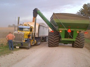 Rosenbohm - Grain cart and yellow truck